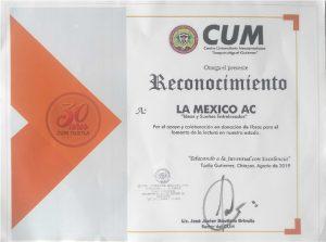 """Reconocimiento del Centro Universitario Mesoamericano """"Joaquín Miguel Gutiérrez"""""""